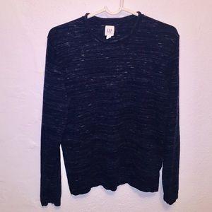 Blue-black sand print wool sweater made by GAP.